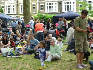 Audience at Goose Green stage