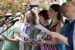 Dulwich Folk Choir at the street party